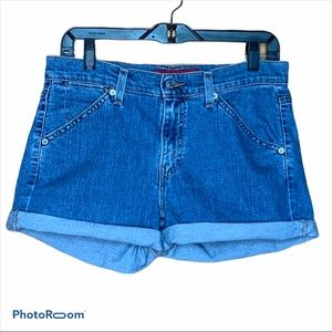 Levi's VGT high rise Jean stretch shorts size 6